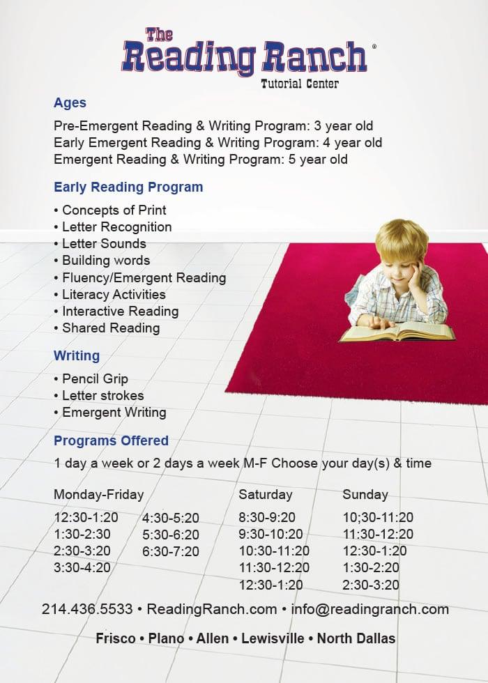 3 Letter Words For Pre K.Pre K Program Reading Ranch Tutorial Centers Texas